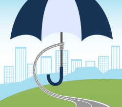 Umbrella Over City – Protection Concept