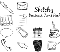 Vector Sketchy Business Icons Pack