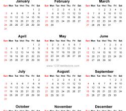 2016 Calendar Printable Free