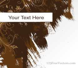 Vector Abstract Grunge Background Banner with Brush Strokes