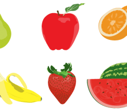 Vector Fruits Illustrator Pack