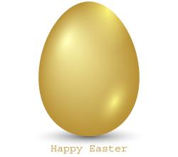 Golden Easter Egg Vector Image