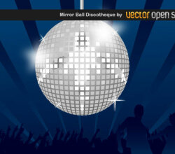 Abstract Background with Disco Ball for Night Party
