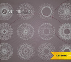 Vector Line Art Circle Design Elements Free