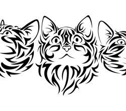 Tribal Cat Vector Image