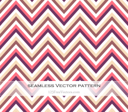 Zigzag Chevron Seamless Pattern Illustration