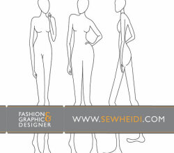 Female Fashion Croquis – Blank Fashion Sketches