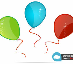 Vector Colorful Balloons Free Icons