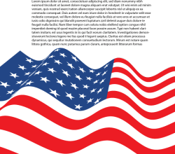 American Flag Letter Size Vector