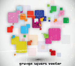 Colorful Grunge Squares Background Free Vector