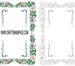 Floral Frame Vector Art