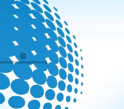 Blue Halftone Dots Vector Pattern