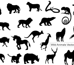 Free Vector Pack: Wild Animals Silhouettes