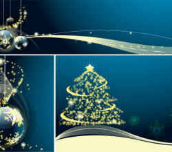 Merry Christmas & New Year Greeting Card Banner Vector