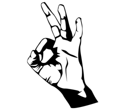 Hand Ok Sign Vector Image