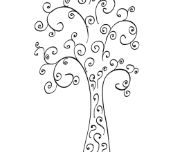 Vector Clip Art Curly Tree