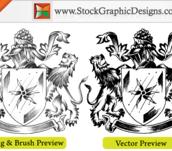 Sketchy Coat Of Arms Heraldic Shield Free Vector