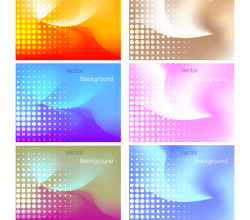 Vector Abstract Gradient Mesh Background with Halftone