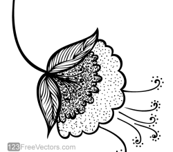 Vector Flower Clip Art