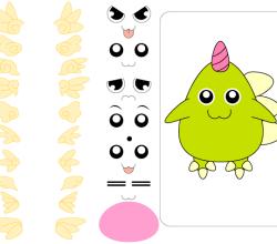 Vector Cute Monster