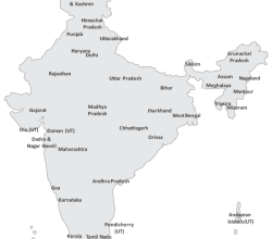 Free India Map Vector