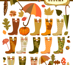 Vector Autumn Elements