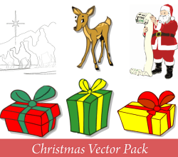 Merry Christmas Vector Pack