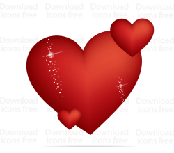 Free Red Valentines Heart Vector Graphics