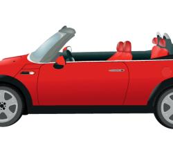 Vector Mini Morris Car