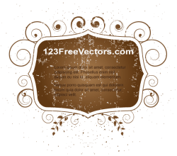 Vector Illustrator Floral Grunge Frame Design