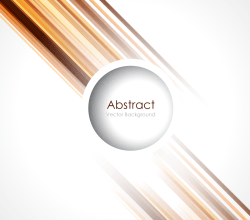 Abstract Lines Background with Circle Vector Template