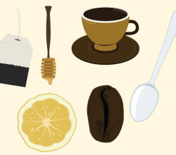 Tea and Coffee Vector Art