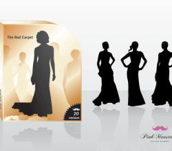 Fashion Girls Silhouettes Free Vector Pack