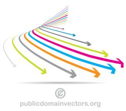 Vector Colorful Arrows Graphics