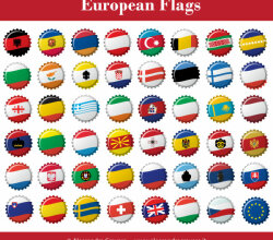 Vector European Flags