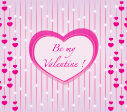 Be My Valentine Vector Graphic