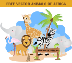 African Animals Free Illustrator Vector Pack