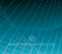 Vector Abstract Blue Background with Flowing Lines