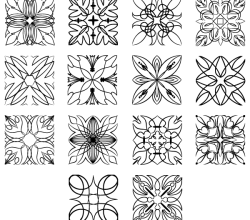 Vector Square Ornaments Illustrator Pack
