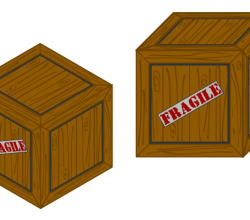 Vector Wooden Crate