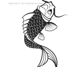 Vector Japanese Koi Fish