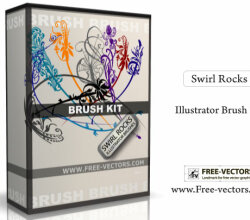 Swirl Rocks – Free Illustrator Brush Kit