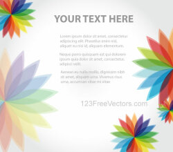 Abstract Background with Colorful Flowers Vector Art