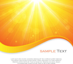Yellow Sun Rays Background Vector