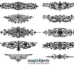 Floral Ornaments Graphics Free Vector Illustrator Pack