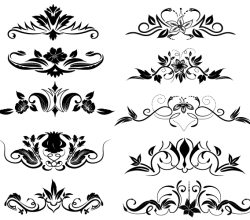 Vector Flourish Ornaments Illustrator