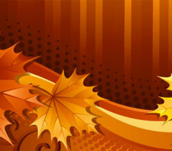 Design Element With Brown Maple Leaves