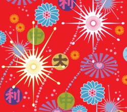 Asian Pop Vector Background Design