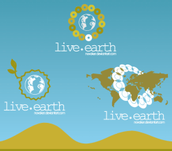 Live Earth Logo Design Vector