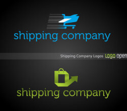 Shipping Company Logo Design Vector